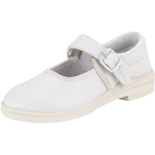 Airform Kids Girls School Shoes White