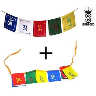 SEGGO Combo Tibetian Buddhist Prayer Flags For Motorbike, Car
