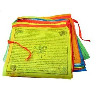 SEGGO Tibetan Lungta Large Prayer Flags, 10 Flags, 13 X 12 Inches