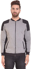 PAUSE Silver Solid Zip Mandarin Slim Fit Full Sleeve Men's Armour Jacket