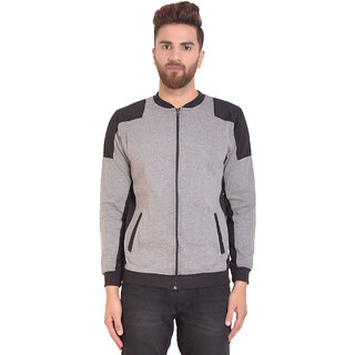 PAUSE Silver Solid Zip Mandarin Slim Fit Full Sleeve Men's Armour Jacket