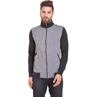 PAUSE Silver Solid Zip Mock Slim Fit Full Sleeve Men's Armour Jacket