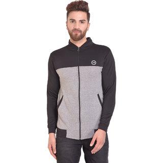 PAUSE Silver Solid Zip Mock Slim Fit Full Sleeve Men's Armour Jacket