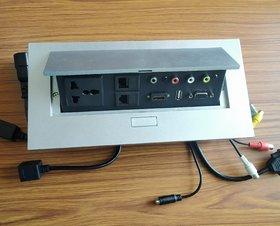 Tech Gear Pop Up Box With HDMI, VGA, USB, Audio, RCA, L