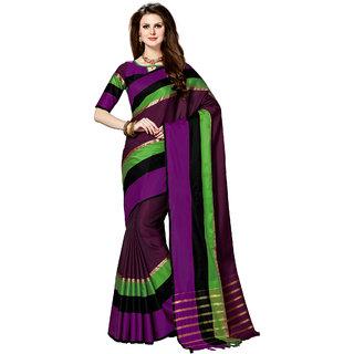 Ashika Woven Banarasi Tussar Silk Wine Saree for Women