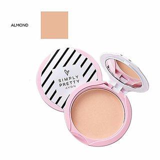 Avon Simply Pretty Shine no More SPF 14 Pressed Powder 11g - Almond
