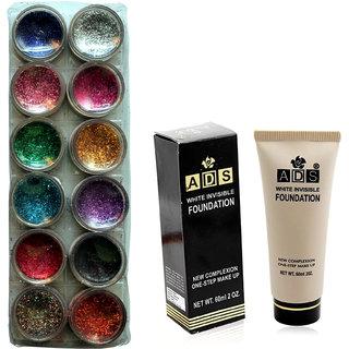 Vozwa 12 in 1 Glitter Powder and Foundation