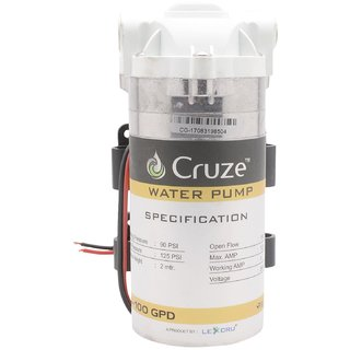 Cruze RO Booster Pump in Stainless Steel ( 100GPD ) 100 Original
