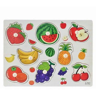 Shribossji Fruits Wooden Puzzle For Kids