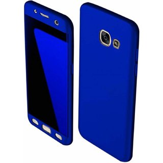 MOBIMON 360 Degree Full Body Protection Front Back Cover (iPaky Style) with Tempered Glass for Samsung J7 Max - Blue