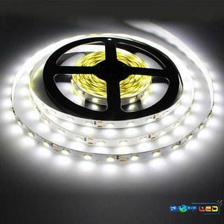 5 Meter Non-Waterproof Flexible LED Strip + Adapter DC 12V, Decorative Light (white)