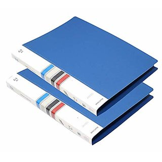 2 Pack A4 Size Report Spring File Document File- Blue