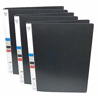 Ring Binder File A4 Size 2D Plastic Black - 3 Pack