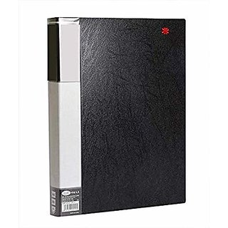 Black Premium Quality Display File A4 With 60 Pockets Ideal For Certificates, Property Documents, Pictorial Leaflets, Large Legal Size Documents