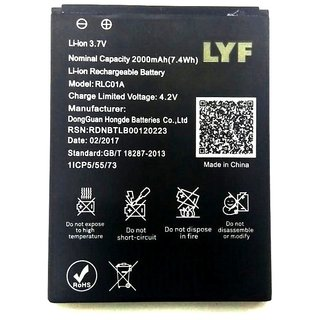 Reliance Jio Lyf Flame 1 Li Ion Polymer Replacement Battery RLC01A 2000mah by Snaptic Batteries