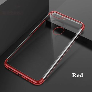 iBubble Oppo F9 Pro Cases Anti Shock Ultra Slim Transparent Electroplating  Back Cover CASE for Oppo F9 Pro (red)