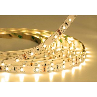 5 Meter Non-Waterproof Flexible LED Strip + Adapter DC 12V, 2835/3528 SMD, Decorative Light (warm white)