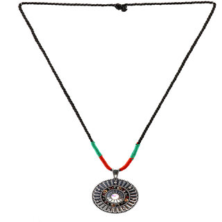 Rizir Fashion Women'S Silver Funky Statement Necklace Beads, Stones And Metal Alloy