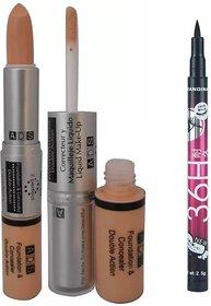 ADS Foundation And Concealer with Sketch Pen Eyeliner  (Set of 2)