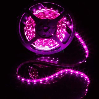 5 Meter Non-Waterproof Flexible LED Strip + Adapter DC 12V, Decorative Light (pink)