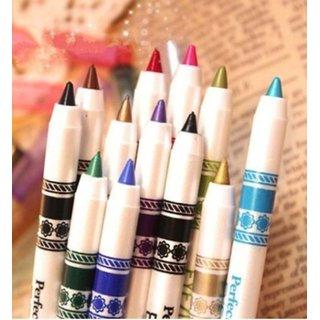 M.N ME Now Second Generation 12 PCS Multi Colours Eye  Lip Liner Pencil  FREE ADS Kajal