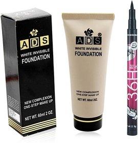 ADS Foundation with Sketch Pen Eyeliner  (Set of 2)