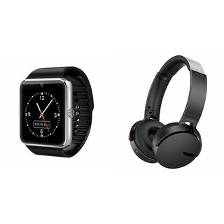 ZEMINI GT08 Smart Watch And Headphone (Extra Bass XB650 Headphone) for HTC DESIRE 600C