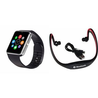 ZEMINI GT08 Smart Watch And Bluetooth Headset (BS19C Headset) for SONY xperia e4g.