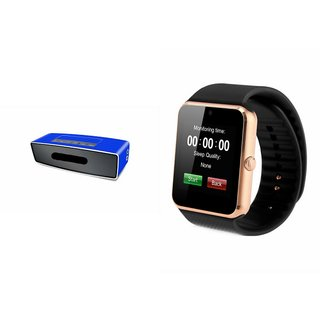 ZEMINI GT08 Smart Watch And Bluetooth Speaker (BO-X2 Speaker) for MICROMAX CANVAS BLAZE 4G