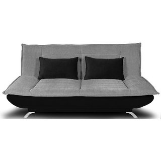 houzzcraft iris sofa cum bed in grey and black