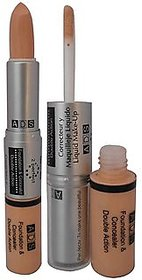 ADS Foundation Cream Concealer Double Action For All Skin Types (Set of 1)