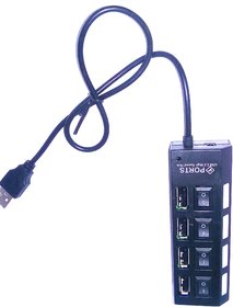 RAnon High Speeded Portable 4 Port USB Hub With LED And