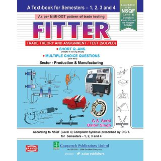 Fitter Theory  Assignment test solved Sem 1-4 English ITI by GS Sethi  Balbir Singh ISBN 9788173177996