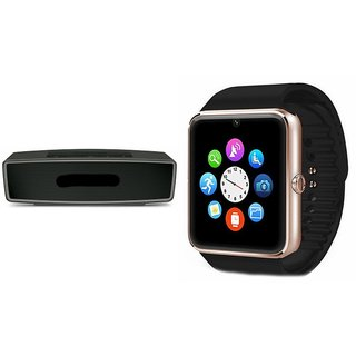 ZEMINI GT08 Smart Watch And Bluetooth Speaker (BO-X2 Speaker) for MICROMAX CANVAS PEP