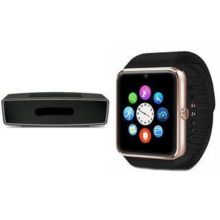 ZEMINI GT08 Smart Watch And Bluetooth Speaker (BO-X2 Speaker) for MICROMAX CANVAS BLAZE MT500