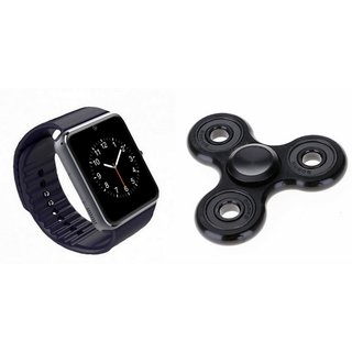 YSB GT08 Smart Watch And Metal Spinner (Hand Spinner) for MICROMAX CANVAS XL