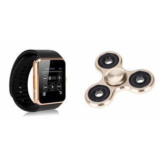 MIRZA GT08 Smart Watch And Metal Spinner (Hand Spinner) for MICROMAX CANVAS 6 PRO