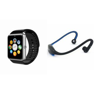 ZEMINI GT08 Smart Watch And Bluetooth Headset (BS19C Headset) for SONY xperia e4g  dual