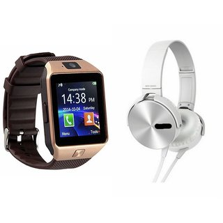 MIRZA DZ09 Smart Watch & Extra Extra Bass Headphones for LG g5 se