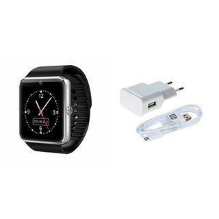 MIRZA GT08 Smart Watch And Mobile Charger for MICROMAX BOLT Q338