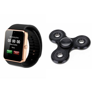 CLONEBEATZ GT08 Smart Watch And Metal Spinner (Hand Spinner) for LG OPTIMUS 4X HD