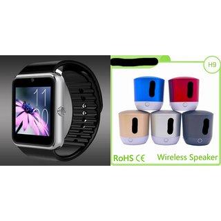 ZEMINI GT08 Smart Watch And Bluetooth Speaker (Hopestar_H9 Speaker) for HTC ONE M8