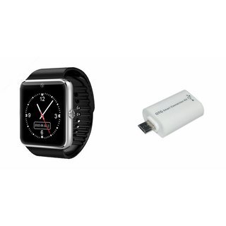 QWERTY GT08 Smart Watch & Smart OTG for MICROMAX CANVAS SPARK