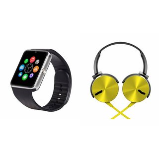 MIRZA GT08 Smart Watch And Headphone (Extra Bass XB450 Headphone) for HTC DESIRE 516 DUAL SIM