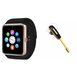 ZEMINI GT08 Smart Watch And Bluetooth Headset (HM1000 Headset) for Coolpad Note 3 Plus