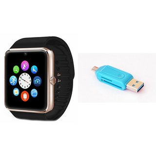 MIRZA GT08 Smart Watch And Card Reader for XOLO A1010