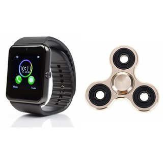 ETN GT08 Smart Watch And Metal Spinner (Hand Spinner) for MICROMAX CANVAS DUET II