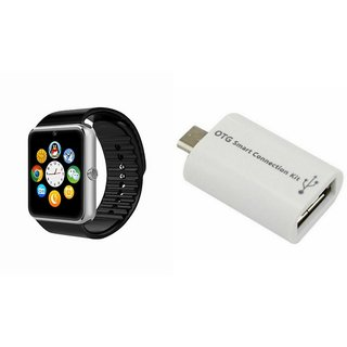 QWERTY GT08 Smart Watch & Smart OTG for SONY xperia e3 dual
