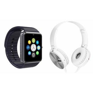 CUBA GT08 Smart Watch & Extra Extra Bass Headphones for LG lancet