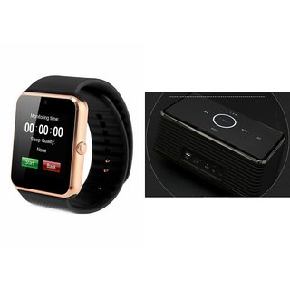 ZEMINI GT08 Smart Watch And Bluetooth Speaker (Bose_ BE8 Speaker) for LG OPTIMUS L5